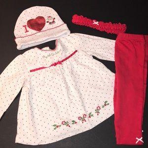 My 1st Christmas Matching Set 4 Piece Baby 9M